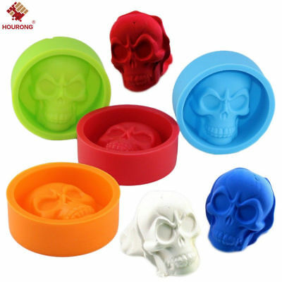 Skull Shape Silicone Cake Candy Chocolate Soap Mold Pan Liner Ice Cube Tray