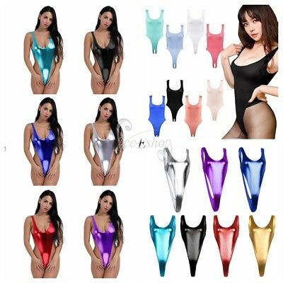 Women's Ladies Sexy Lingerie High Cut Thong Bodysuit Leotard Underwear Swimsuit