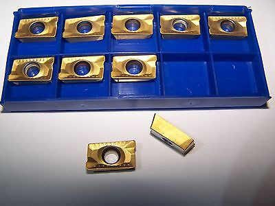 NEW - ! APKT 1604 PDER TiN COATED 10 pcs. CARBIDE INSERTS - FREE SHIPPING !