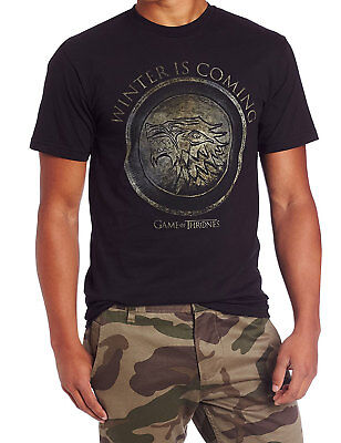 Game of Thrones - Winter Is Coming Circle Adult T-Shirt -Official American Drama