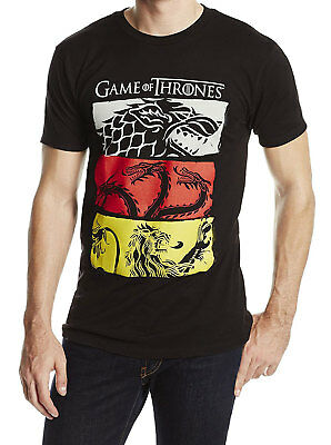 HBO'S Game of Thrones - 3 House Symbols Adult T-Shirt -Licensed American Drama T