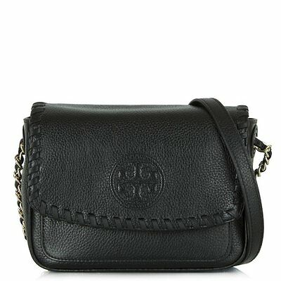 NWT Authentic Tory Burch Marion Leather Mini Messenger bag-Black