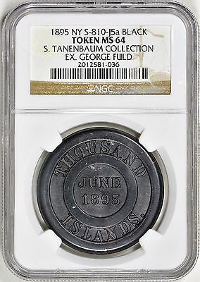 1895 NY S-810-J5a Hard Rubber S. Tanenbaum Collection Ex. George Fuld NGC MS-64