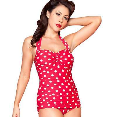 44ff8ac16f Esther Williams Red/White Polka Dots One-Piece Swimsuit Vintage Retro 50s