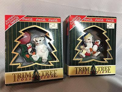 Trim-A-Tree Collection Coca-Cola Ornaments Lot Of 2 NEW