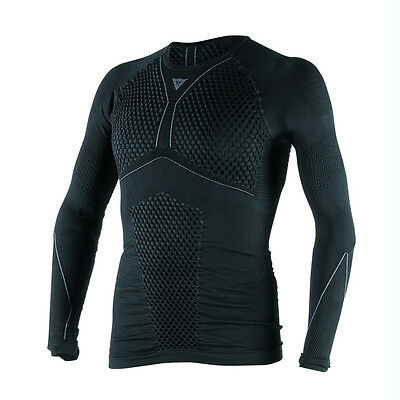 Dainese D-Core Thermo LS Black / Anthracite Motorbike Tee Base Layer | All Sizes