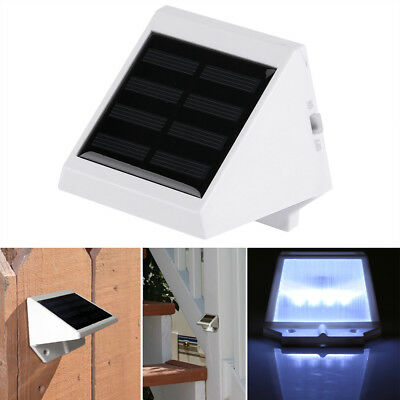 4LED Solar Power Sensor Wall Light Security Motion Weatherproof Outdoor Lamp TP