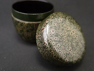 Japanese Traditional Lacquer UNIQUE DESIGN Tea Caddy Natsume (704)