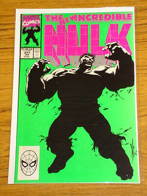 Incredible Hulk #377 Vol1 Mar Green And Grey Hulk Merge January 1991