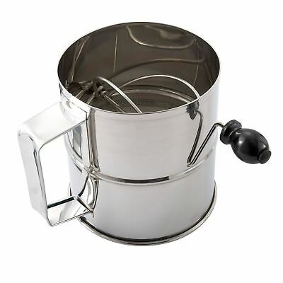 Winco RFS-8 Stainless Steel Rotary Flour Sifter