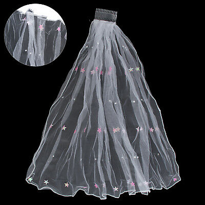 Veil Comb Bride to Be Hen Night Wedding Party Accessories with Diamante Bridal