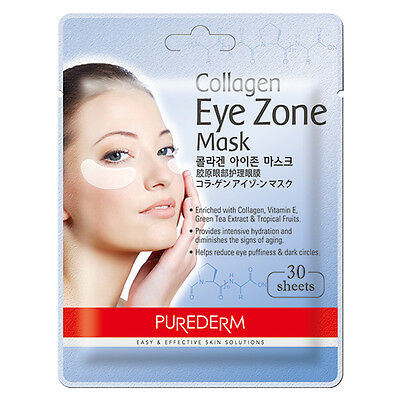[PUREDERM] Collagen Eye Zone Mask 30 sheets 1/2pcs Lot - BEST Korea Cosmetic