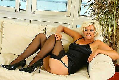 z1c Jo Guest stockings #black6 12x8inch approx A4 glossy photo