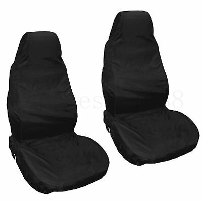 2X Universal Waterproof Car Pair Front Seat Covers Van Protector Heavy Duty AU