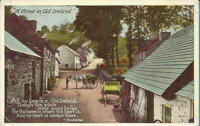 Vintage Valentines Postcard - A HOME IN OLD IRELAND
