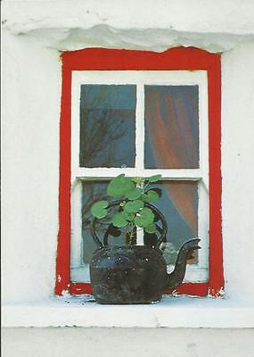 Real Ireland Postcard - A KETTLE ON A COTTAGE WINDOW