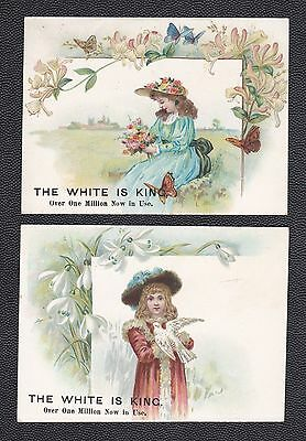 """White Sewing Machines trade card, Olive & Myers, Indianola Iowa, 3 x 4.25"""" Lot 2"""