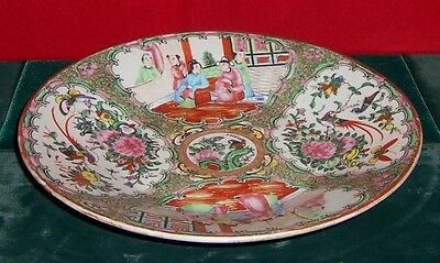 Vintage Chinese Export Rose Medallion Large Deep Well Round Charger Circa 1860