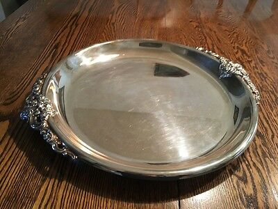 Wallace Silverplate Baroque Serving Tray Platter #204