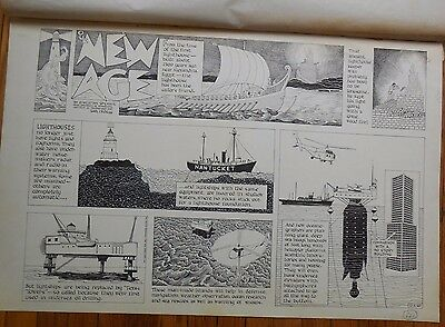 """Original Art for """"Our New Age"""" by Athelstan Spilhaus & Earl Cros from 12/4/1960"""