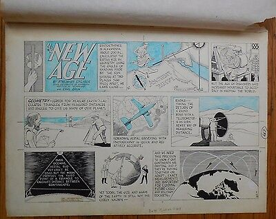 """Original Art for """"Our New Age"""" by Athelstan Spilhaus & Earl Cros from 4/12/1959"""
