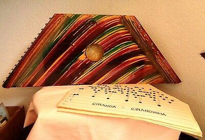 Vintage Citara Mini Harpa Ceara from Brazil with Music Sheets