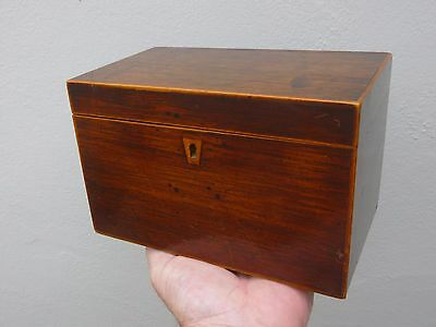 A Georgian Mahogany & Boxwood Tea Caddy c1800/20