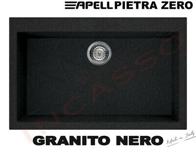 Lavello Fragranite Incasso Apell Pietra Zero 79X50 1 Vascone GB Nero