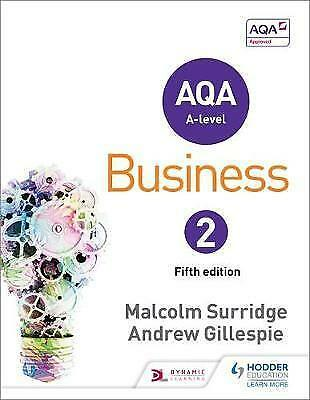 AQA Business for A Level 2 by Andrew Gillespie, Malcolm Surridge (Paperback,...