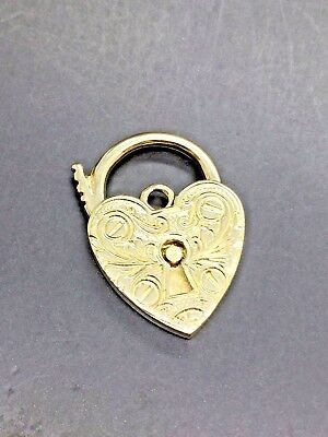 9ct Yellow Solid Gold Heart Locket Findings