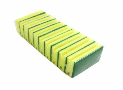 Bentley Sponge Scourer SC.03/10 - Green and Yellow, Pack of 10