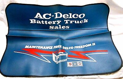Nos~Gm Ac Delco Battery Truck Sales Fender Cover~ Dealer New Old Stock~Original