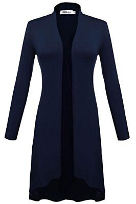 Meaneor Women's Basic Long Sleeve Cardigan For Party Navy Blue XXL, New