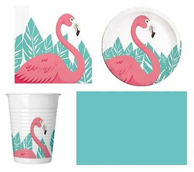 PINK FLAMINGO Birthday Party Range (Tableware & Decorations) {Unique}