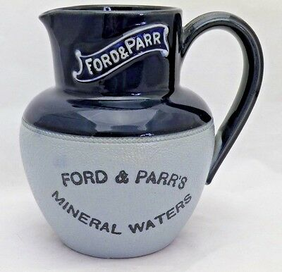 Advertising Vintage Water Jug Ford & Parr's Mineral Water Lovatt Langley Ware