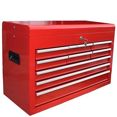 Toolbox Top Half 9 Draws Tool Chest Storage Cabinet Roller Ball Bearing Runner