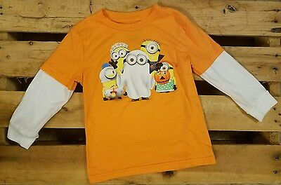 DESPICABLE ME Minions Halloween shirt size 3T Toddler Boy