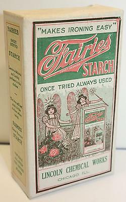 Antique Vintage 1920s Unopened Fairies Starch Sample Box Lincoln Chemical Works