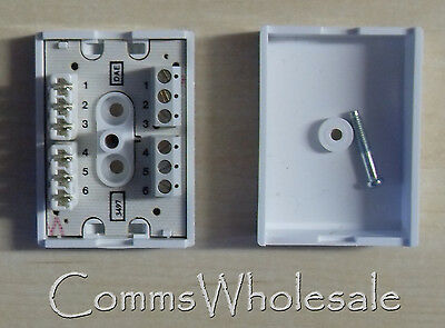 New BT 84A 3 Pair Screw 3 Pair IDC Junction Box (Joint Box) Job lot x 5