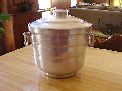 """Vintage Hammered Aluminum Ice Bucket """"GAILSTYN"""" Made in USA"""