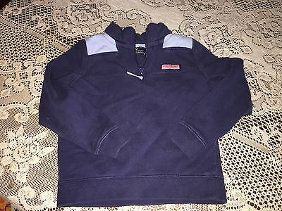Boy's Clothes Vineyard Vines Navy & Light Blue 1/4 Zip Pullover Size 7