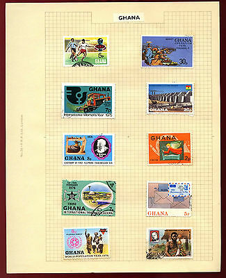 Ghana Album Page Of Stamps #V5445