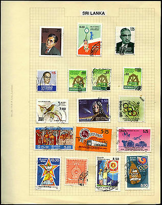 Sri Lanka Album Page Of Stamps #V5414