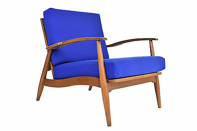Mid Century Modern Lounge Chair - Vintage Walnut Arm Chair - Refinished