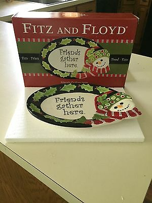 Fitz & Floyd Friends Gather Here Tray With Box