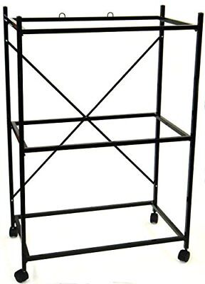 YML 3-Shelves Stand for Pet Cages Black Birdcage Stands Birds, New