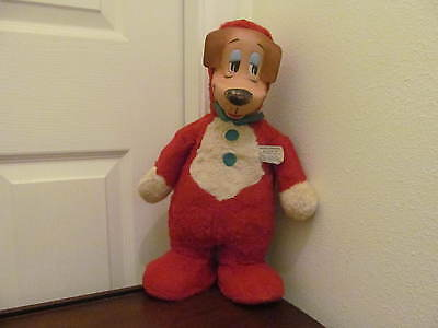 1959 Huckleberry Hound Rubber Face Plush Doll