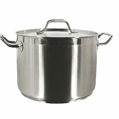 Thunder Group SLSPS080 Stock Pot, 80 Quart, with Lid, Induction Ready, 18/8 S/S