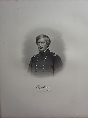 1863 Original American Civil War Print & Biog Major-General C. M. Clay