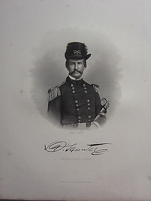 1863 Original American Civil War Print & Biog Major-General D. Hunter